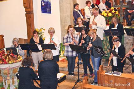 Auftritt des Altflötenchors im Gottesdienst